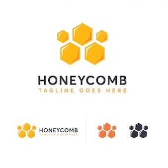 Modelo de logotipo de pente de mel