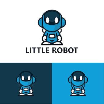 Modelo de logotipo de pequeno robô