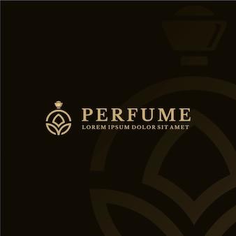Modelo de logotipo de perfume de luxo