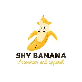 Modelo de logotipo de personagem de banana