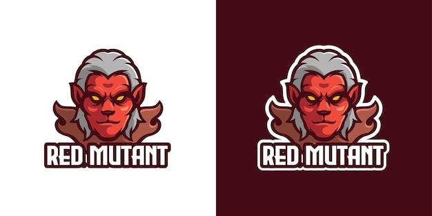 Modelo de logotipo de personagem mascote de monstro mutante