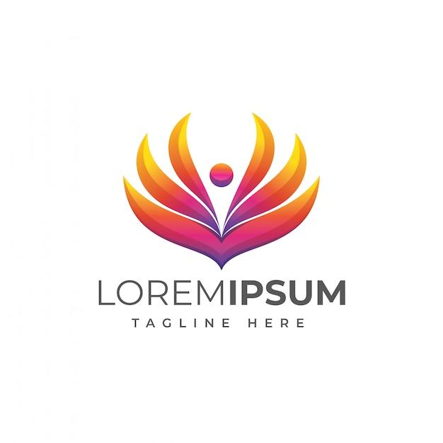 Modelo de logotipo de pessoas