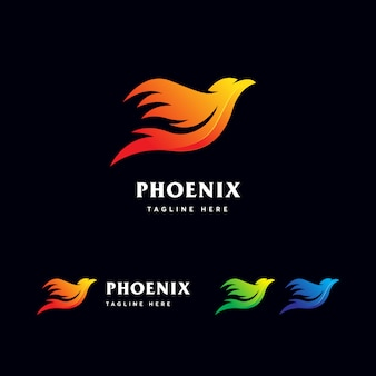 Modelo de logotipo de phoenix