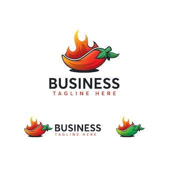 Modelo de logotipo de pimentão