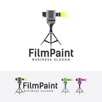 Modelo de logotipo de pintura de filme