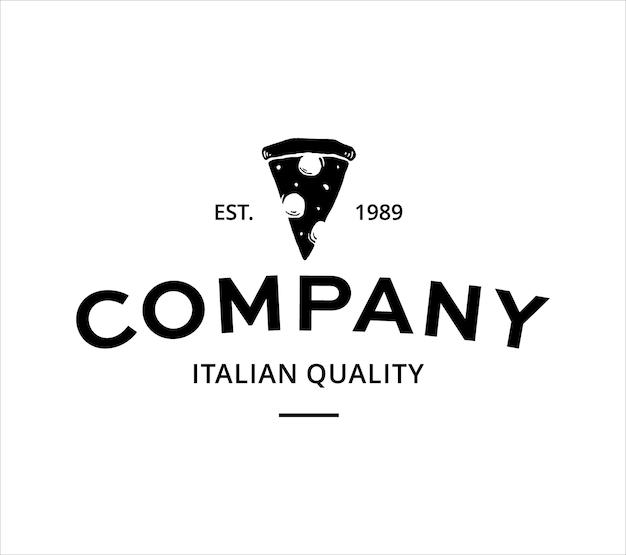 Modelo de logotipo de pizza vintage