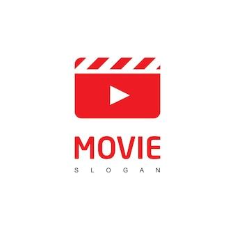 Modelo de logotipo de player de filme