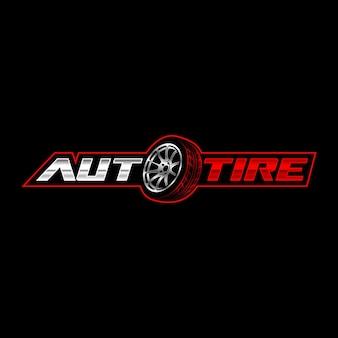 Modelo de logotipo de pneu automotivo