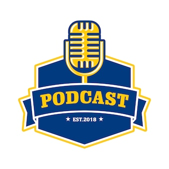 Modelo de logotipo de podcast