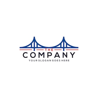 Modelo de logotipo de ponte