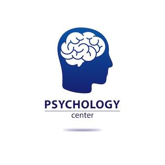 Modelo de logotipo de psicologia
