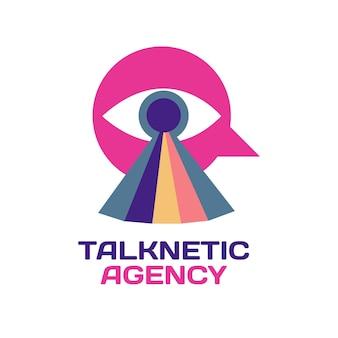 Modelo de logotipo de publicidade de agência de criação