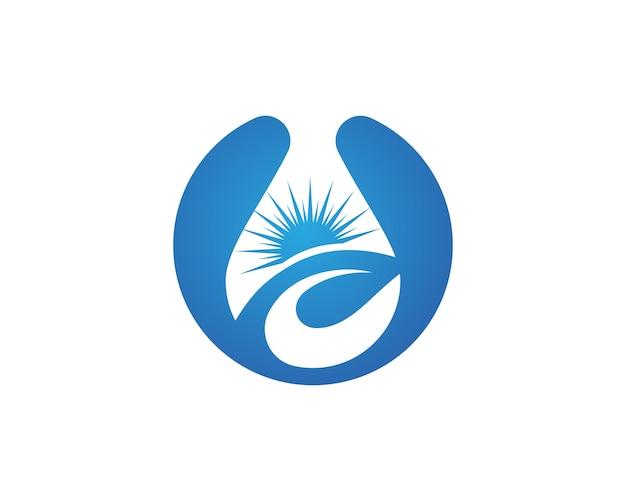 Modelo de logotipo de queda de água
