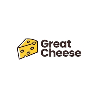Modelo de logotipo de queijo