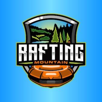 Modelo de logotipo de rafting