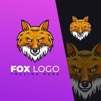 Modelo de logotipo de raposa moderno e luxuoso