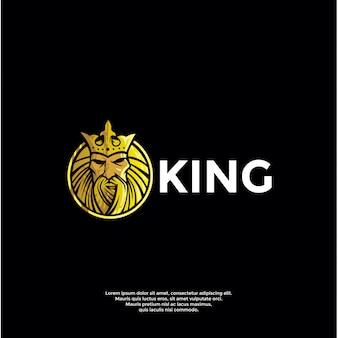 Modelo de logotipo de rei de luxo