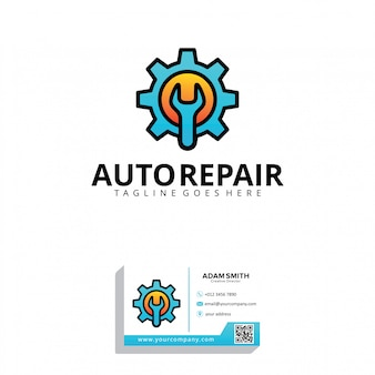Modelo de logotipo de reparo automático