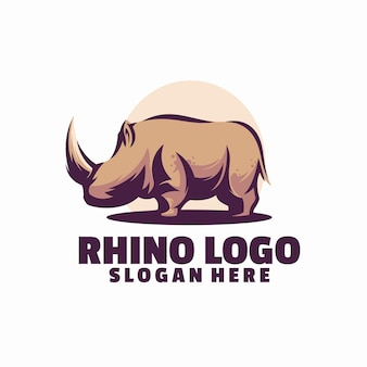 Modelo de logotipo de rinoceronte