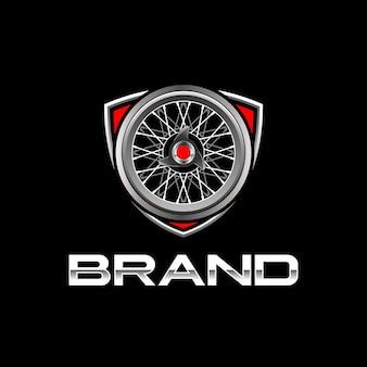 Modelo de logotipo de rodas clássicas