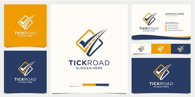 Modelo de logotipo de rodovia com cartão de visita