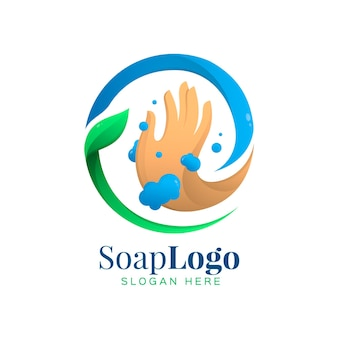 Modelo de logotipo de sabão
