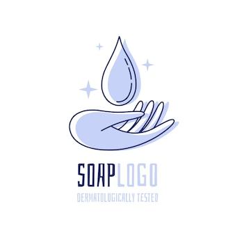 Modelo de logotipo de sabonete criativo