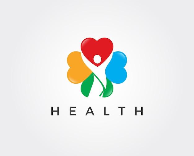 Modelo de logotipo de saúde mínima