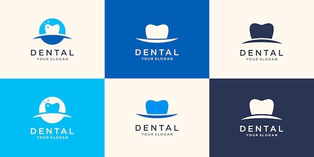 Modelo de logotipo de saúde odontológica médica