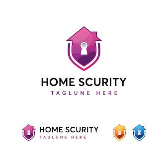 Modelo de logotipo de segurança em casa