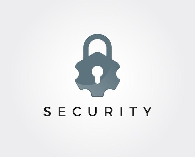 Modelo de logotipo de segurança mínima