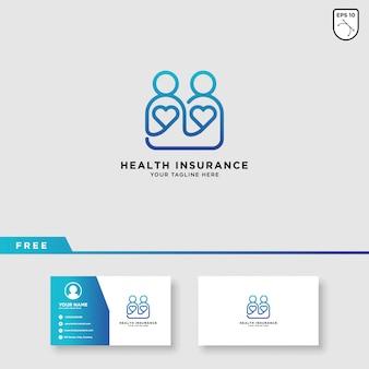 Modelo de logotipo de seguro de saúde