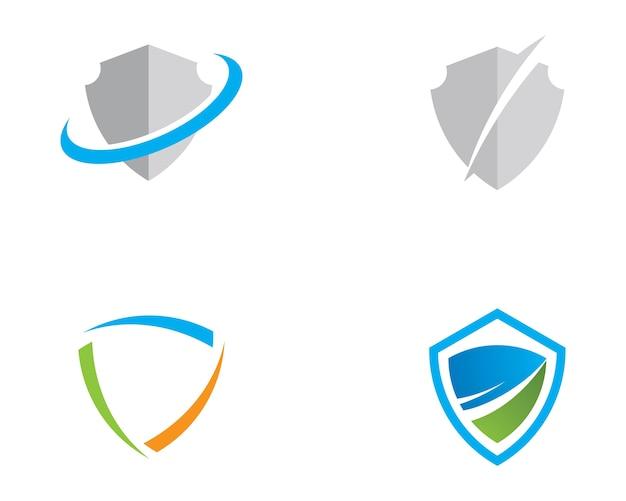 Modelo de logotipo de símbolo de escudo