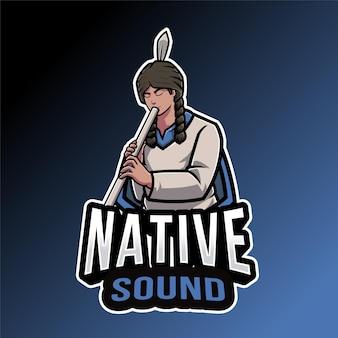 Modelo de logotipo de som nativo