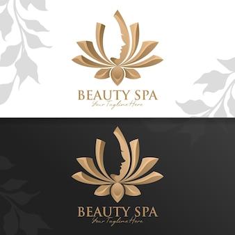 Modelo de logotipo de spa e ioga de beleza