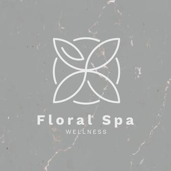 Modelo de logotipo de spa vetor de design de marca empresarial de saúde e bem-estar