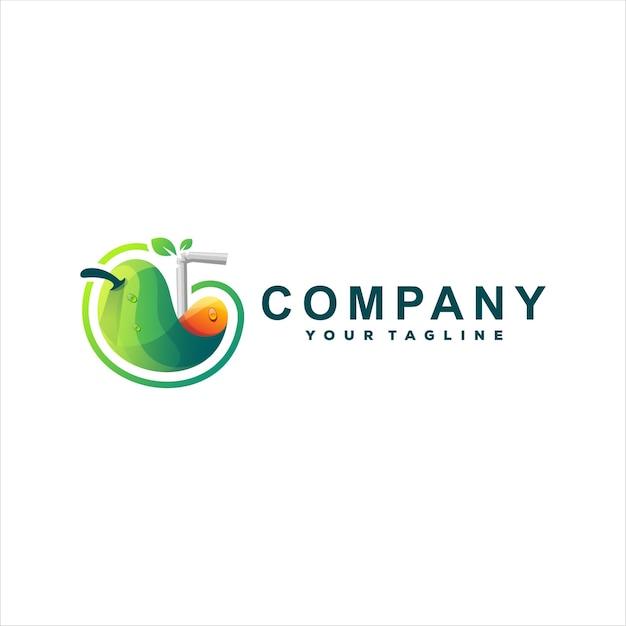 Modelo de logotipo de suco de frutas