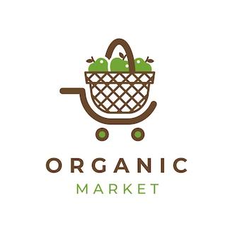 Modelo de logotipo de supermercado criativo