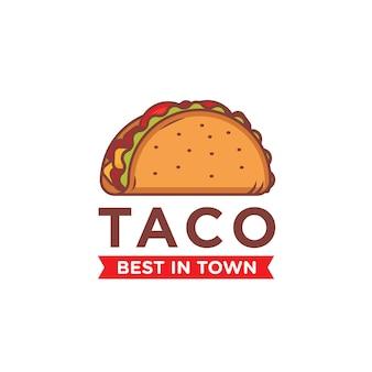 Modelo de logotipo de taco