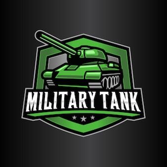 Modelo de logotipo de tanque militar