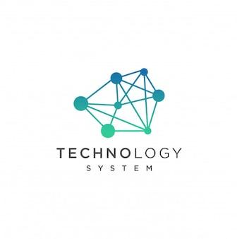 Modelo de logotipo de tecnologia abstrata. ilustração de conceito de tecnologia de internet de rede