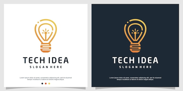 Modelo de logotipo de tecnologia inteligente com conceito criativo moderno premium vector