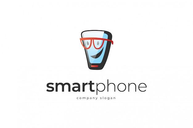Modelo de logotipo de telefone inteligente