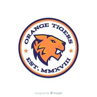 Modelo de logotipo de tigre esporte