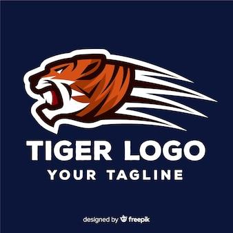 Modelo de logotipo de tigre