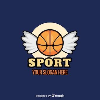 Modelo de logotipo de time de basquete moderno