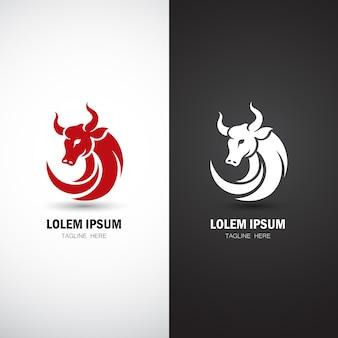 Modelo de logotipo de touro moderno