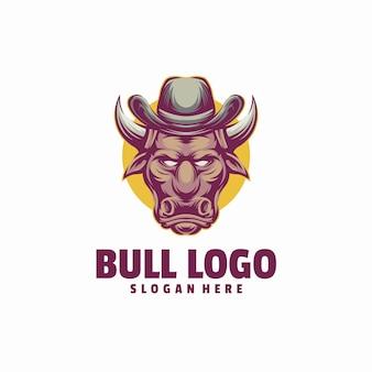 Modelo de logotipo de touro