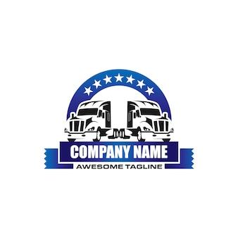 Modelo de logotipo de transporte de caminhão