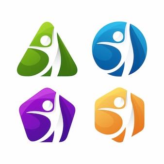 Modelo de logotipo de treinamento de vida